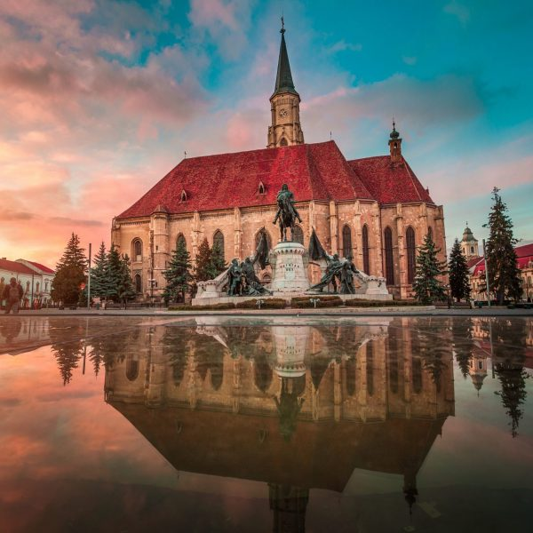 The city of Cluj-Napoca, St. Michael Church